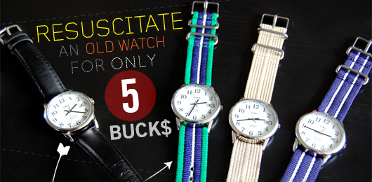 Resuscitate An Old Watch For Only 5 Bucks