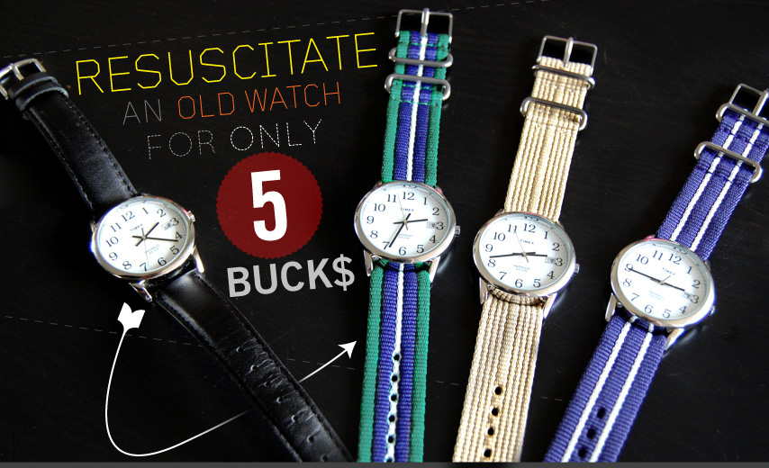 Resuscitate an old watch for only $5 - watches with nato straps