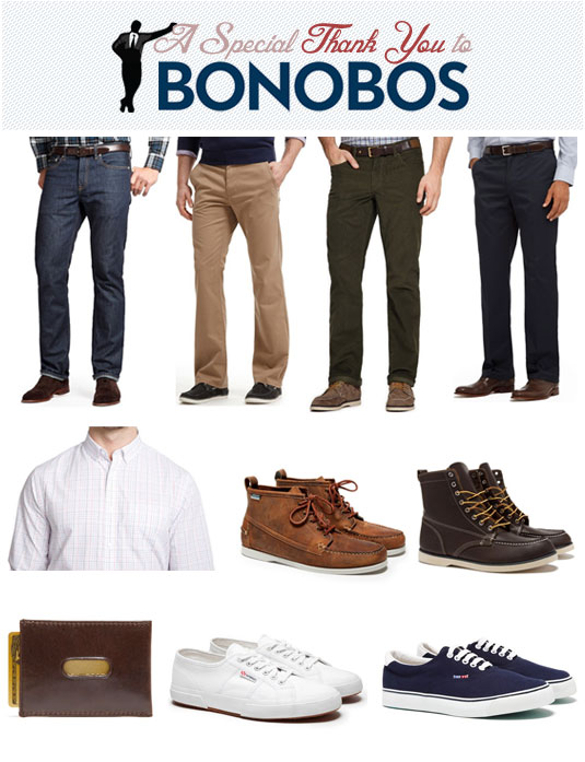 Special thanks to Bonobos - chinos, shirt, shoes, wallet