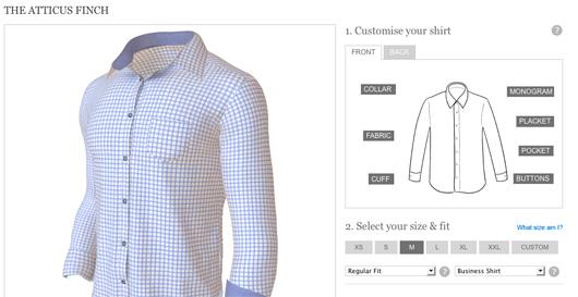 Joe Button shirt maker screenshot