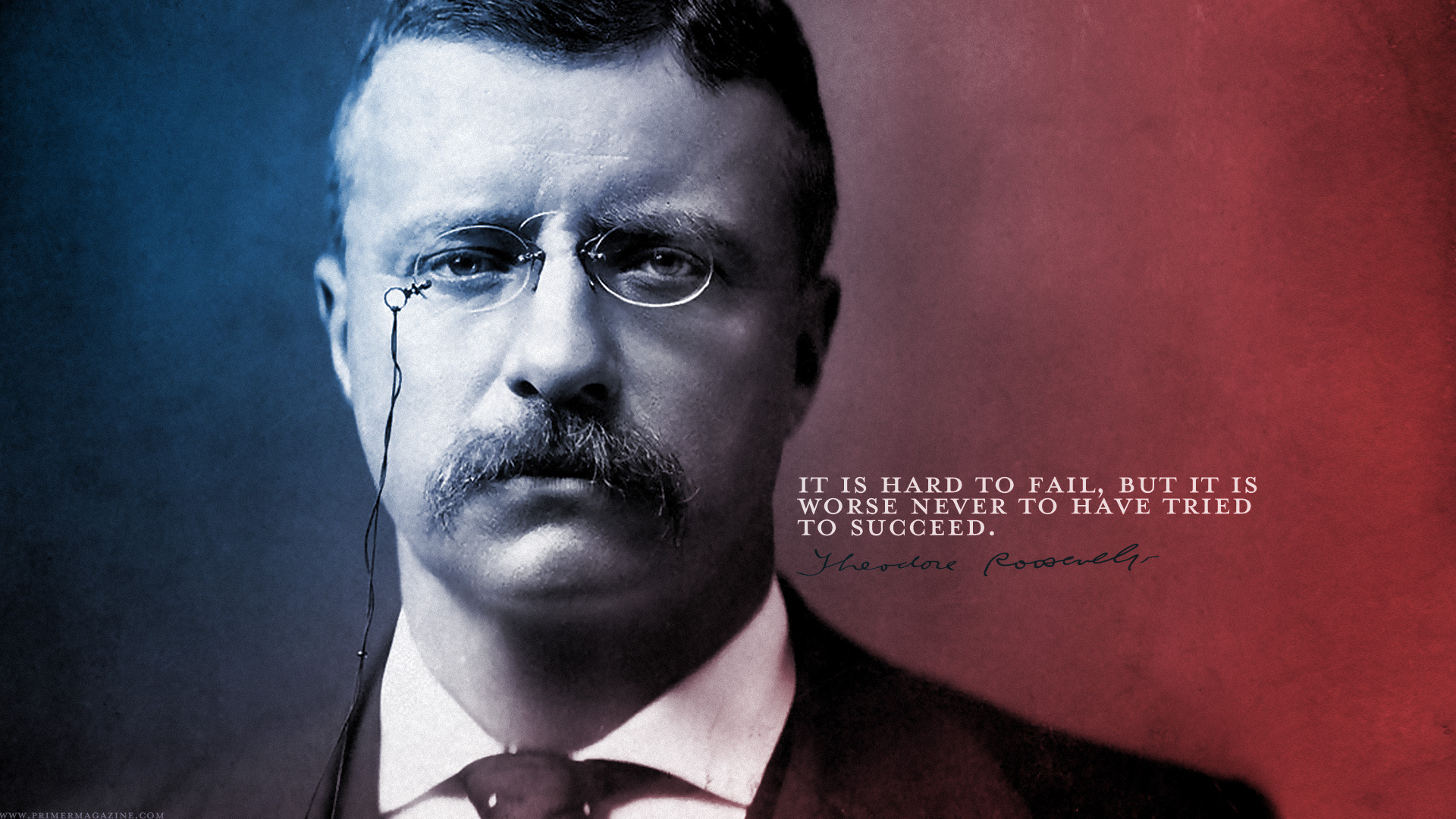 wednesday wallpaper: failure vs success by teddy roosevelt | primer