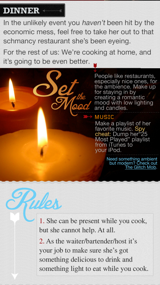 Valentines Day infographic set the mood - candles