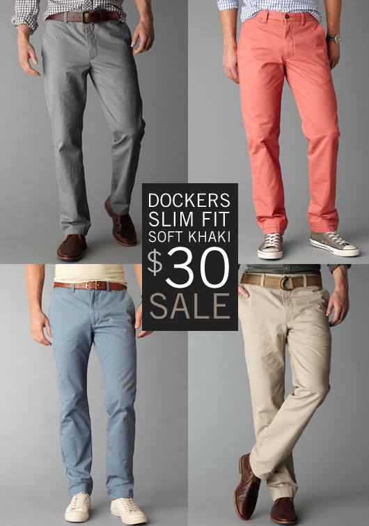 sale  dockers slim fit soft khakis   30