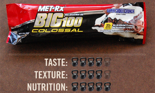 Big100 with taste, texture, and nutrition ratings