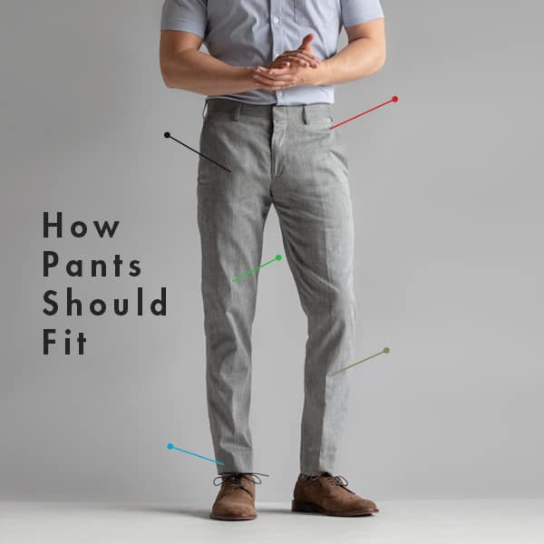 How Pants Should Fit: Dress Pants, Khakis, Jeans, and Shorts