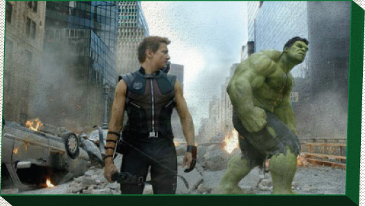 Hawkeye and The Hulk