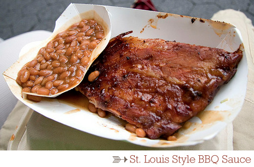 A close up of food on a plate, with Sauce and Barbecue