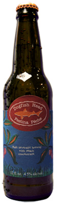 A close up of a bottle dogfish head