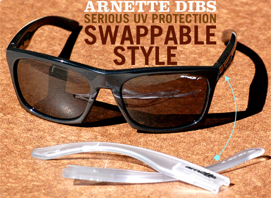 Arnette Dibs Sunglasses: Serious UV Protection with Swappable Style