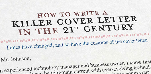 how to write a killer cover letter in the 21st century - Modern Cover Letter Examples