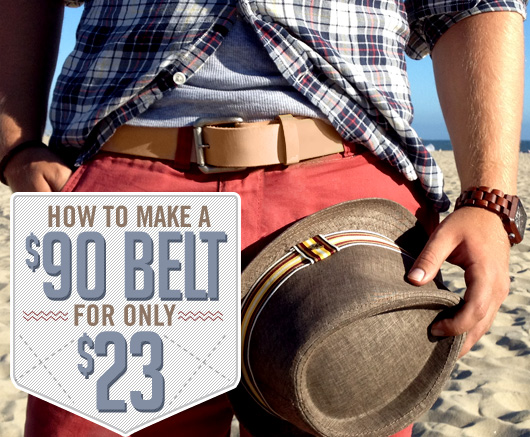 how to make a  90 belt for only  23