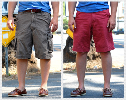 cargo shorts compared to dock shorts