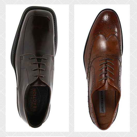 square toe and round toe dress shoes