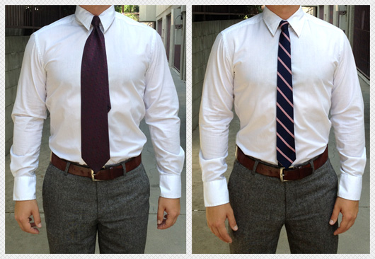 wide and skinny tie comparison