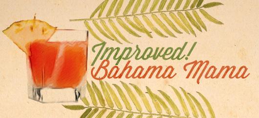 Improved Bahama Mama tiki drink illustration