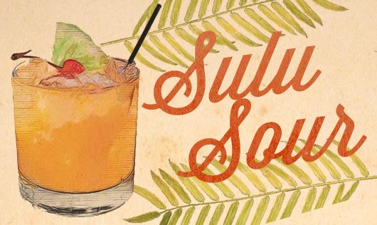 Sulu Sour tiki drink illustration