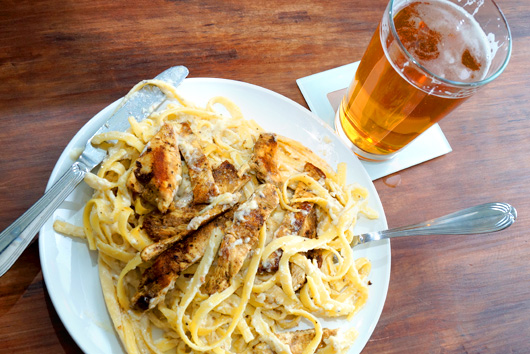 Beer with Fettuccine