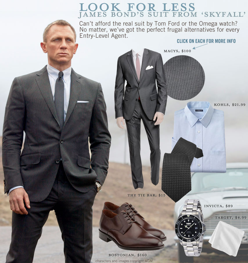 look for less james bond s suit from skyfall primer
