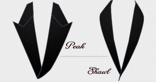 Tuxedo lapel diagram