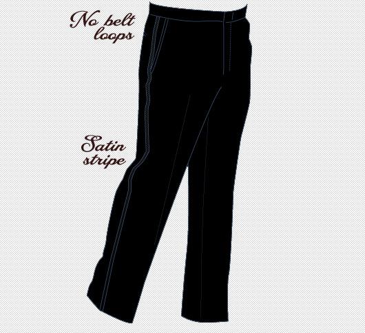 Tuxedo pants diagram