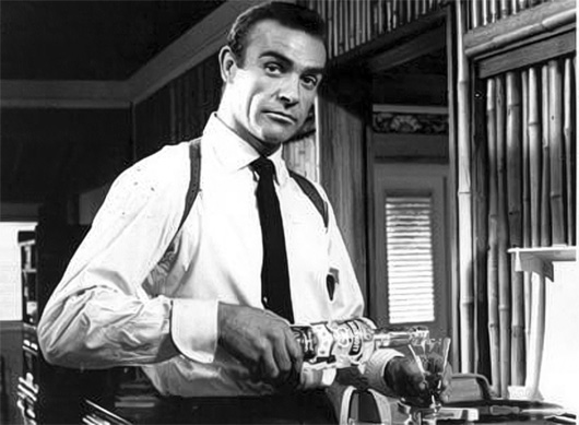 Sean Connery making a martini