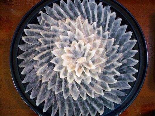 Fugu on plate
