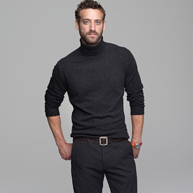 A person wearing a turtleneck