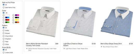 Proper shirt website screenshot