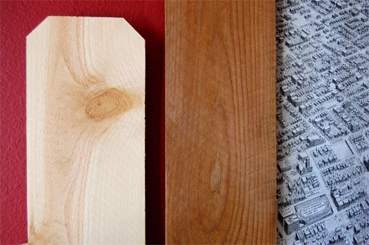 Before and after stained wood