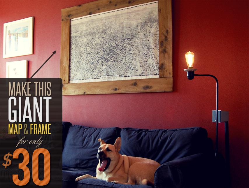 Make this giant map frame for only 30 primer - The giant slide apartament ...