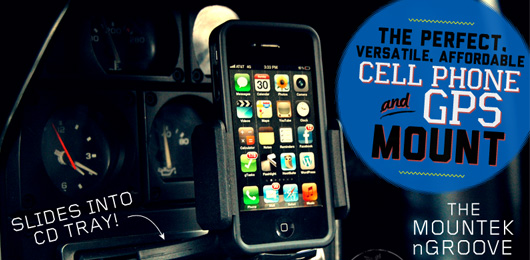 The Perfect, Versatile, Affordable Cell Phone & GPS Mount: The Mountek nGroove
