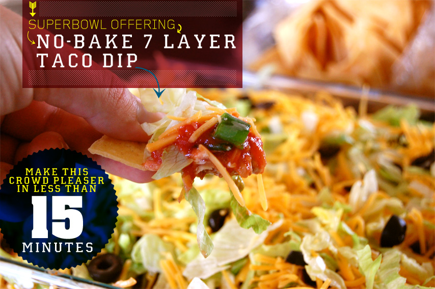 Superbowl Offering: No-Bake 7 Layer Taco Dip | Primer