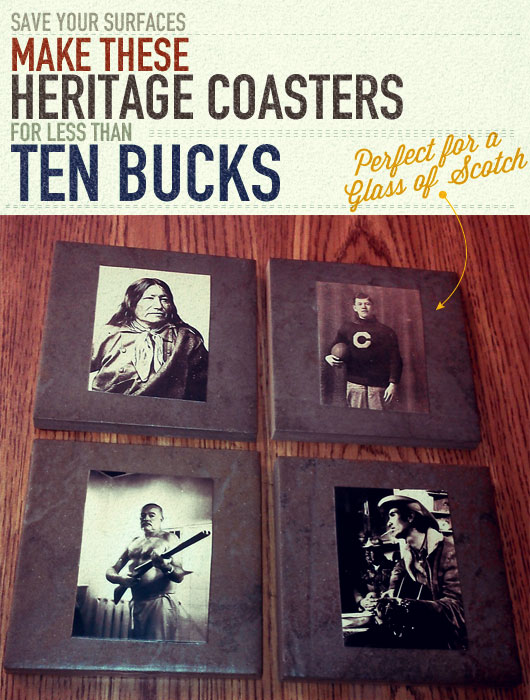 Make These Heritage Coasters for Less Than $10
