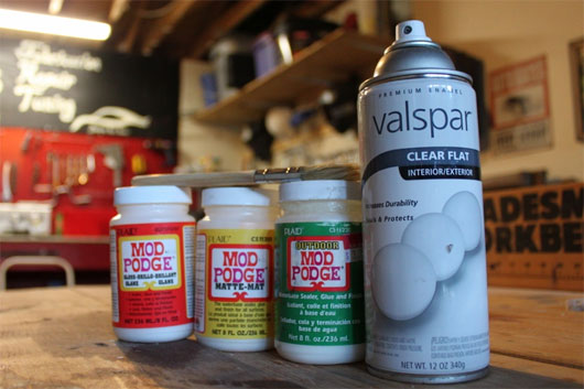 Mod Podge and Valspar