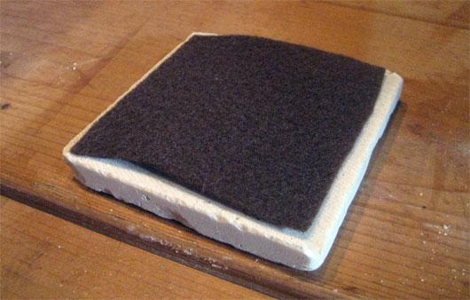Felt on back of coasters
