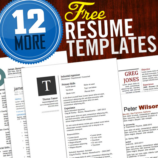 12 resume templates for microsoft word free download - Resume Word Template Free
