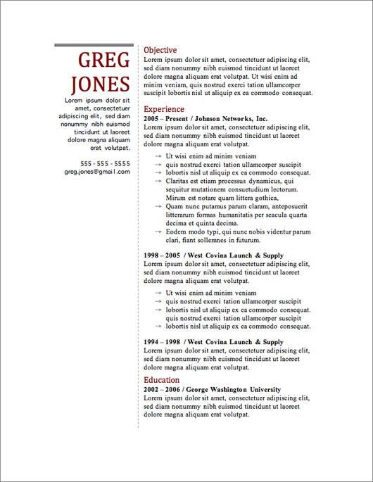 resume of george washington iwork resume templates - Free Resume Template Builder