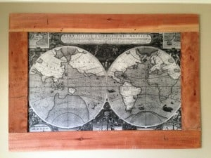 Make this giant map frame for only 30 primer scott solutioingenieria Image collections