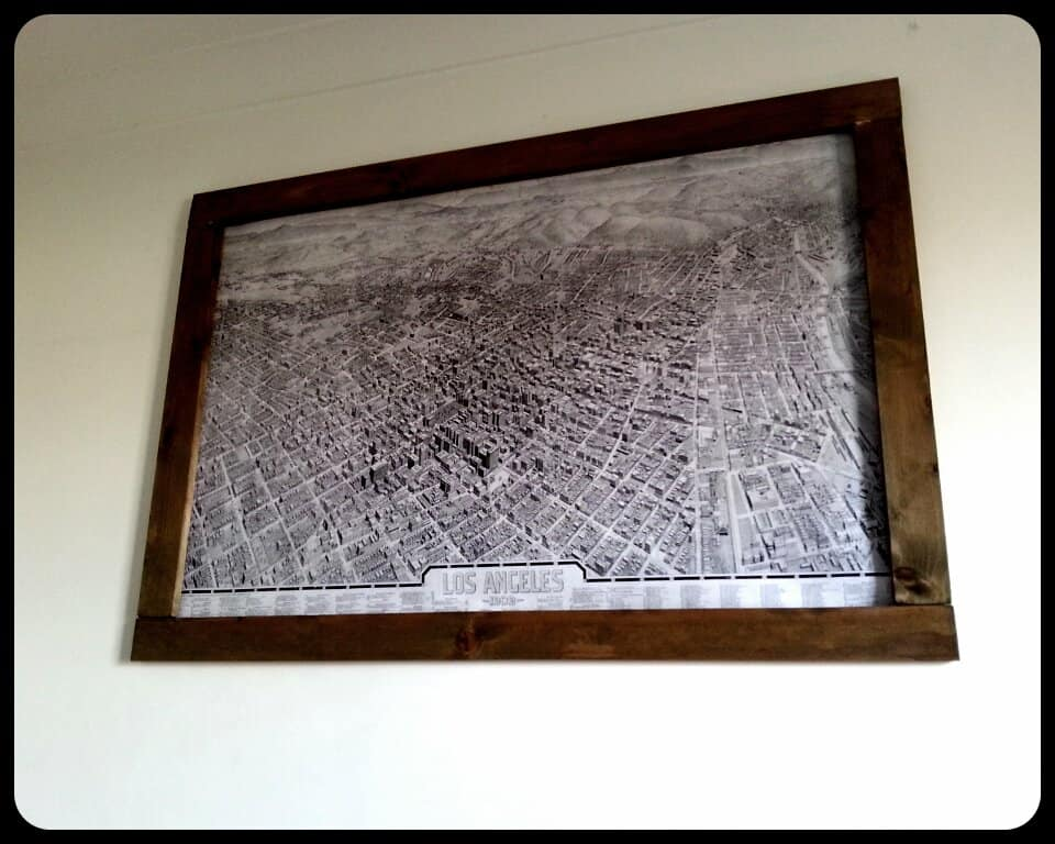 Make This Giant Map Frame For Only Primer - Large framed us map