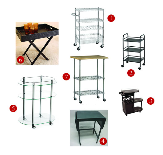 Collage of bar cart items