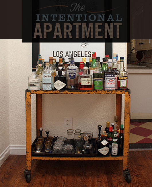 the intentional apartment assembling the perfect bar cart