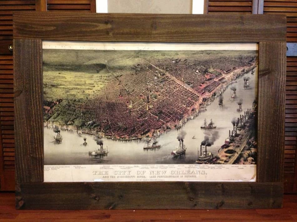 Make this giant map frame for only 30 primer andrew snavely solutioingenieria Image collections
