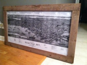 Reader submitted seattle map and frame