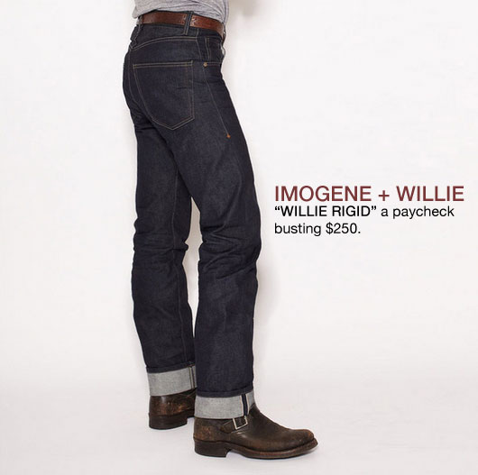 Imogene + Willie Rigid selvedge jeans