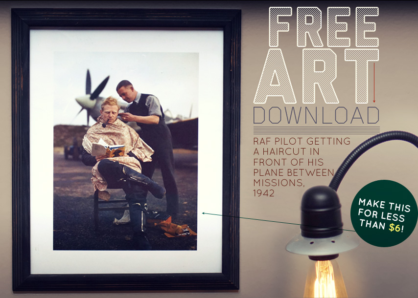 Free Art Download  RAF Pilot Getting
