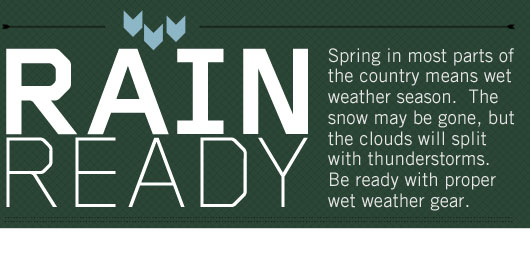 Rain Ready: Options for the Wet Weather Months