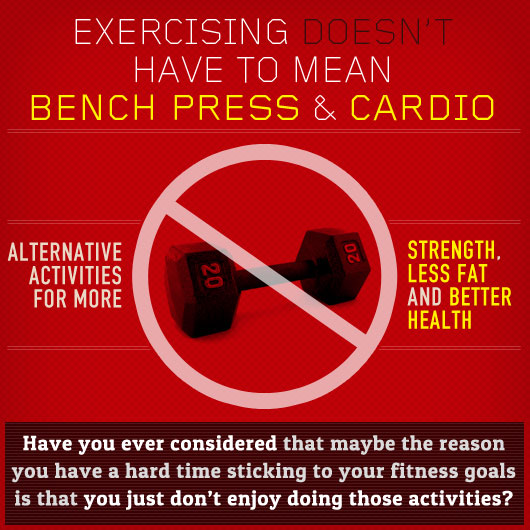 Exercising Doesn't Have to Mean Bench Press & Cardio: Alternative Activities for Strength, Less Fat and Better Health