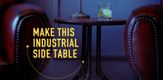 DIY industrial pipe side table
