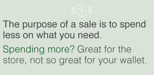 Article quote inset - Spending more, great for the store not for your wallet