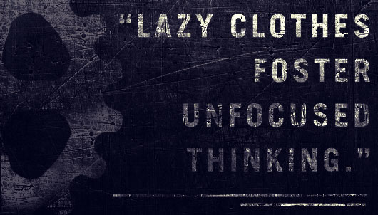 Lazy clothes foster unfocused thinking